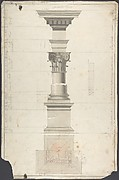 Design for a column in Roman order