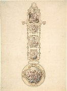 Design for an Enameled Watchcase and Chtelaine with Mythological Figures