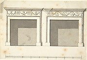 Two Designs for Mantels in the Adam Style