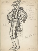 Costume design for a bullfighter