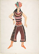 Costume design for Native American male