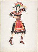 Costume design for Native American female
