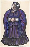 Old Woman in a purple dress