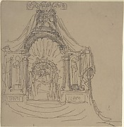 Design for a Throne (recto); Recumbent Figure (verso)