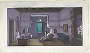 Stage design for Nikita Balieff's theatrical company called Chauvre-Souris, New York City