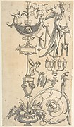 Candelabra Grotesque with a Vase with Fruit and an Amazon Shield
