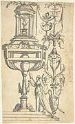 Candelabra Grotesque Crowned by an Altar in a Small Pavillion