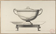 Design for a Covered Bowl with Stand