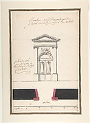 Design for an Elevation of a Gateway, Abbey at Rebais (Seine et Marne)