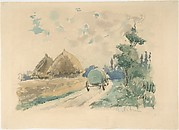 Landscape with Wagon and Haystacks