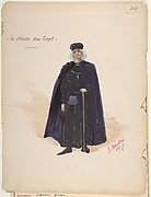 Costume for Sir Olivier McText [a]; Descriptive Sheet of Accessories [b]