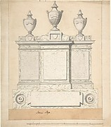 Design for a Monument to the Three Wives of the First Earl of Guilford, at Wroxton, Oxfordshire