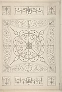 Design for an Oblong Ceiling with an Oval Centre