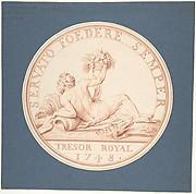 Design for a Token: Trésor Royal 1748