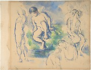 Bathers (recto) ; Still Life (verso)