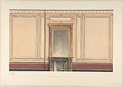 Coffee Room Elevation, Pompeian style