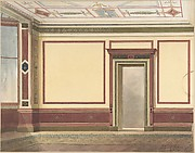 Dining Room Elevation in a Simplified Third Pompeian Style