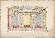 Design for a Room Decorated as an Aviary