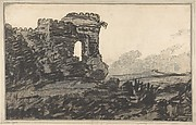 Ruined Castle and Trees