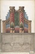 Design for an Organ Case for Saint Saviour's Church, Chelsea, London