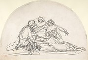 Three Nymphs and a Youth: study for a decorative lunette