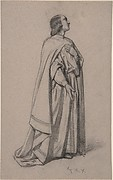 Standing Figure of a Robed Man