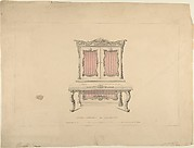 Design for Cabinet Pianoforte, Louis Quatorze Style