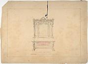 Design for Cabinet Pianoforte, François Premier Style