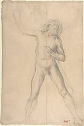 Standing Nude Youth, with right arm raised