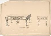 Design for Square Pianoforte, Grecian Style