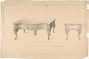 Design for Square Pianoforte, Louis Quatorze Style