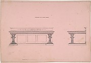 Designs for Sideboard with Elliptic Plinth