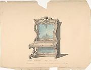 Design for Cabinet Pianoforte, Louis Quinze Style