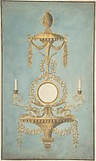 Design for a Sconce with a Mirror