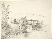 Landscape with a Bridge (recto); Thatched Cottage (verso)