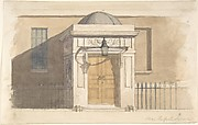 Domed Projecting Rectangular Entrance to a House near Russell Square