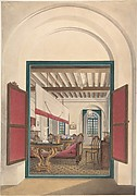 Interior of an English room in India or Ceylon