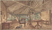 Two European Men in an African Hut