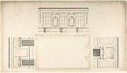Room Design Showing Plan and Three Wall Elevations