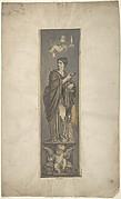 Wall Decoration with Allegorical Figure of Riches