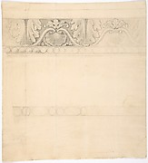 Design for a Frieze with Acanthus and Shell