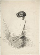 Woman Seated, Seen from Back