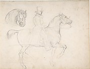 Man on Horseback, and Study of Horse's Head