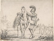 Soldier Mounting a Horse
