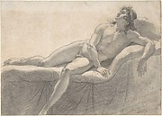 Male Nude Reclining on a Divan