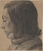 Head of a Young Man in Profile, to the Left