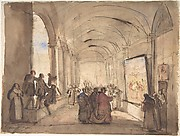 A Cardinal Examining a Painting in a Cloister