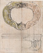 Design for a Cartouche-Shaped Gold Box