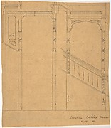 Elevation of Staircase Wall