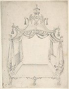 Design for a Four-poster Bed with Hangings
